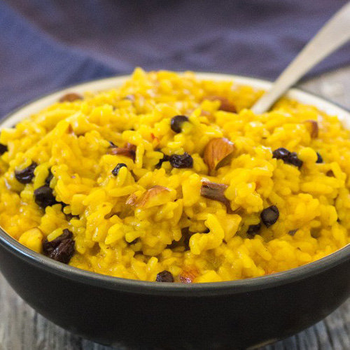 makanan khas swiss Risotto Saffron
