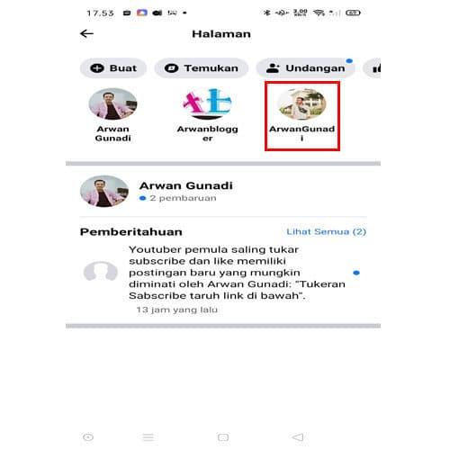 cara menghapus halaman facebook di smartphone