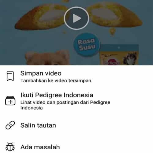 cara menyimpan video di fb