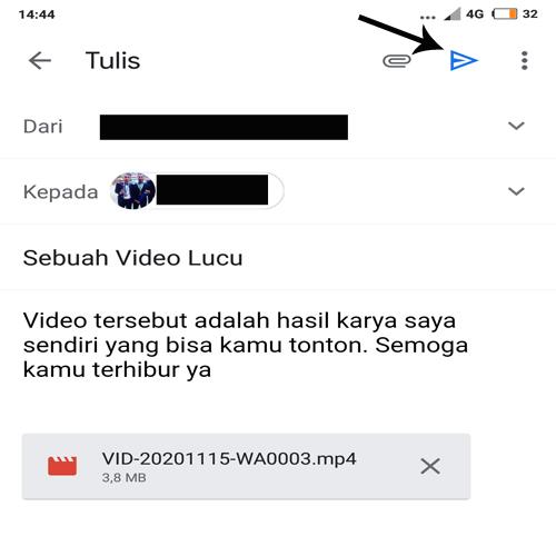 cara mengirim video lewat email di hp