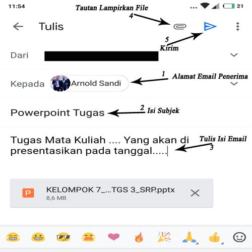 cara mengirim powerpoint lewat email di hp