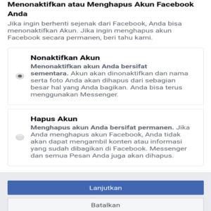 menutup akun facebook