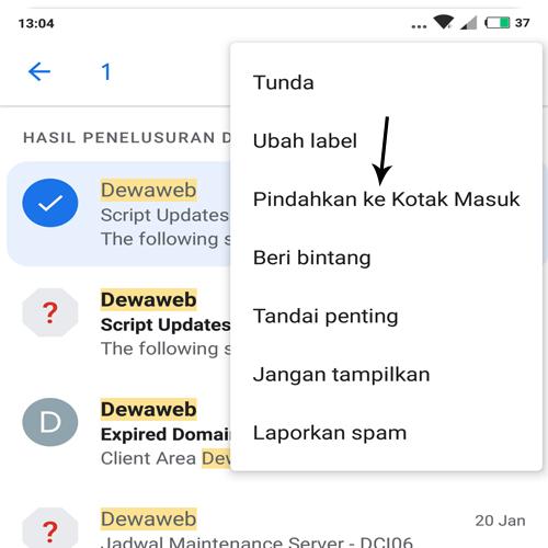 cara mengembalikan email yang diarsipkan di gmail