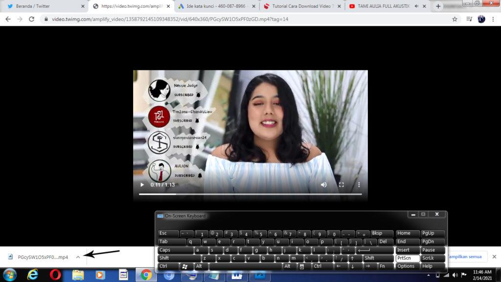 cara download video di twitter di laptop