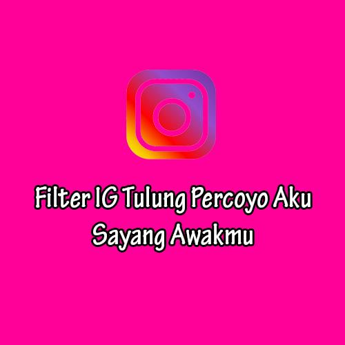 Filter IG Tulung Percoyo Aku Sayang Awakmu