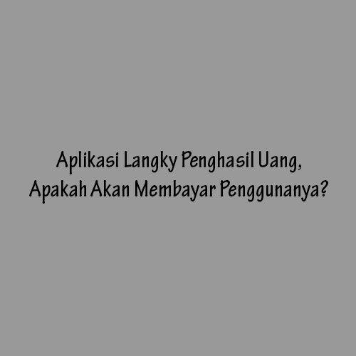 Aplikasi Langky